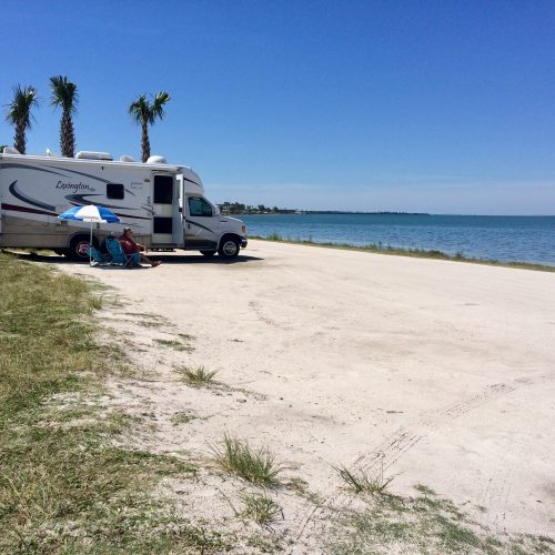 RV Parked on Beach
